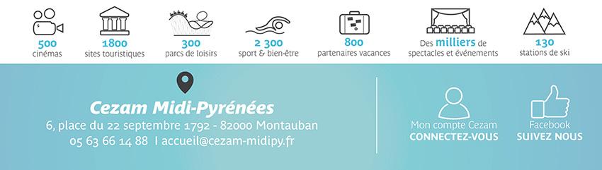 Carte Cezam Montauban.Newsletter